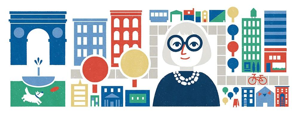 Google Doodle for Jane Jacobs