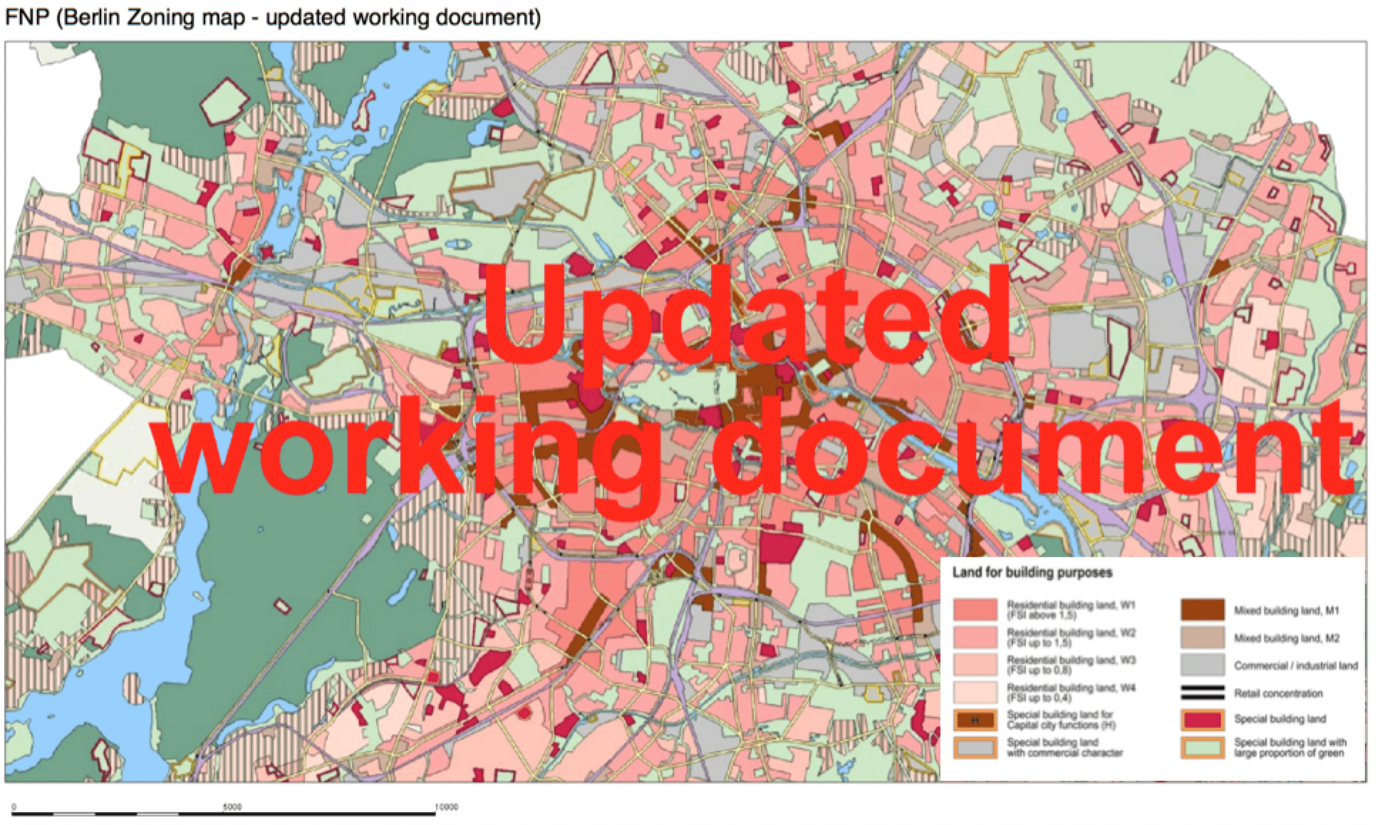 Map of urban zoning in Berlin